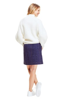 <ul><li>Full sleeve ribbed turtleneck sweater</li><li>Designed for a relaxed fit</li><li>Pullover</li><li>Wool/Cashmere</li><li>Dry clean</li><li>Imported</li></ul>