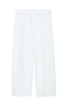<ul><li>Wide leg cropped pant</li><li>53% Cotton 41% Viscose 6% Elastane</li><li>Dry Clean Only</li></ul>