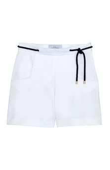 <ul><li>Cotton shorts with removal rope belt</li><li>53% Cotton 41% Viscose 6% Elastane</li><li>Dry Clean Only</li></ul>